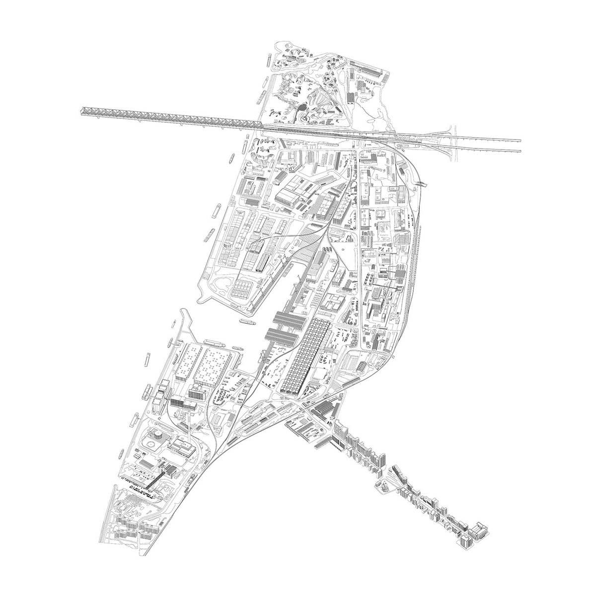 003 Ten Lager Eugster Belgrade Harbour Site Drawing