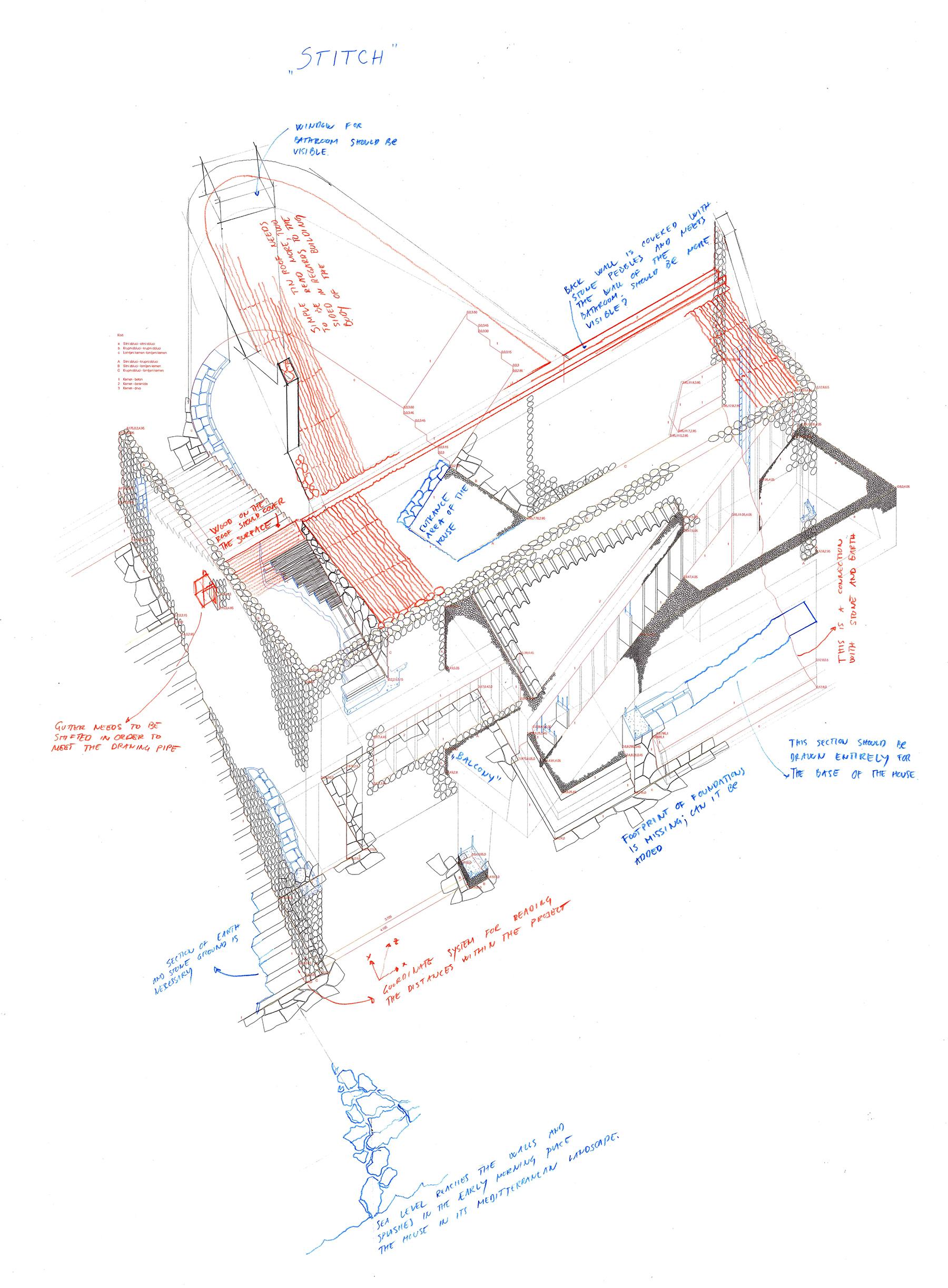 053 Ten Dobrovic Stitch Student Jana Kulic With Annotations By Nemanja Zimonjic With Ljiljana Blagojevic And Milica Lopicic Drawing Workshop 2017